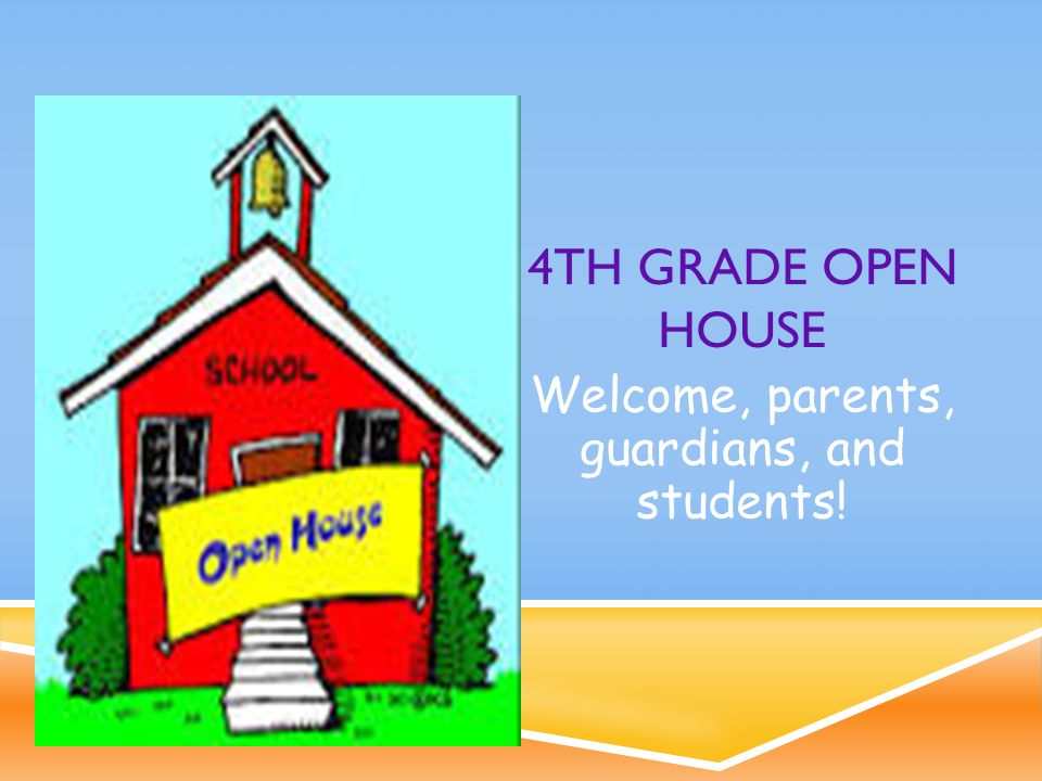 WELCOME TO 4TH GRADE. Thank you for coming tonight.