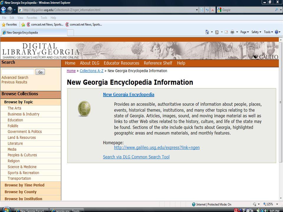 New ga encycl info