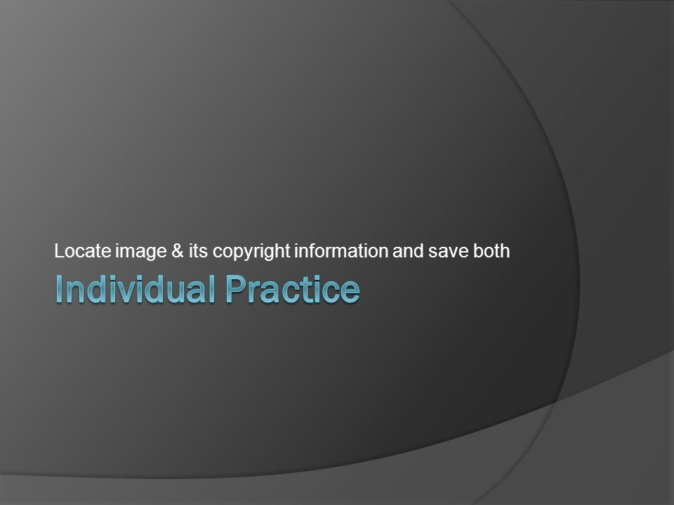 Locate image & its copyright information and save both