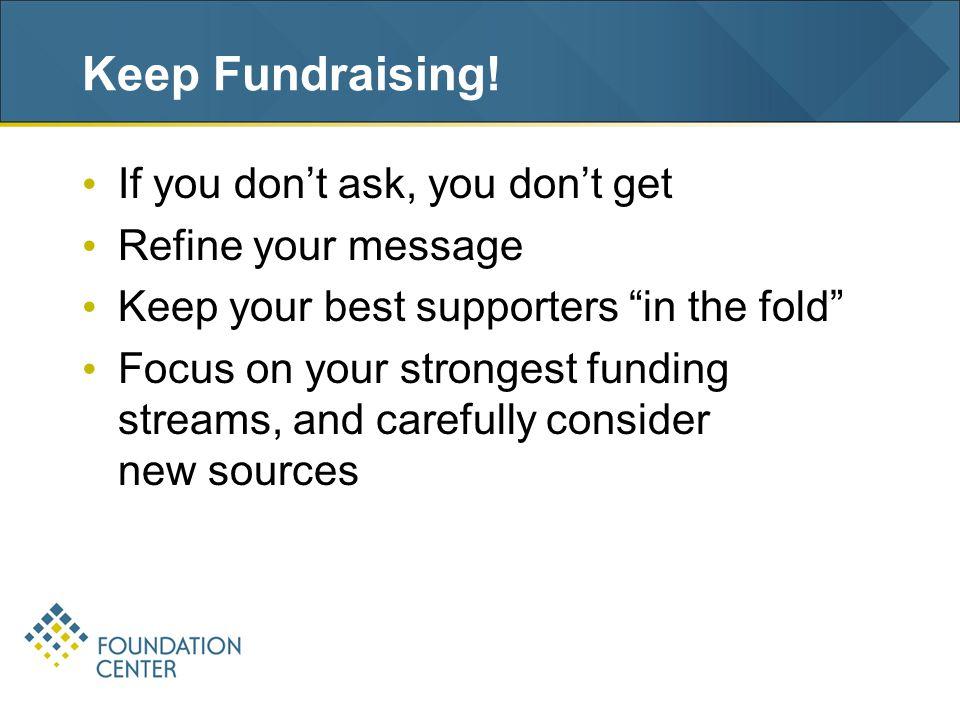 Keep Fundraising.