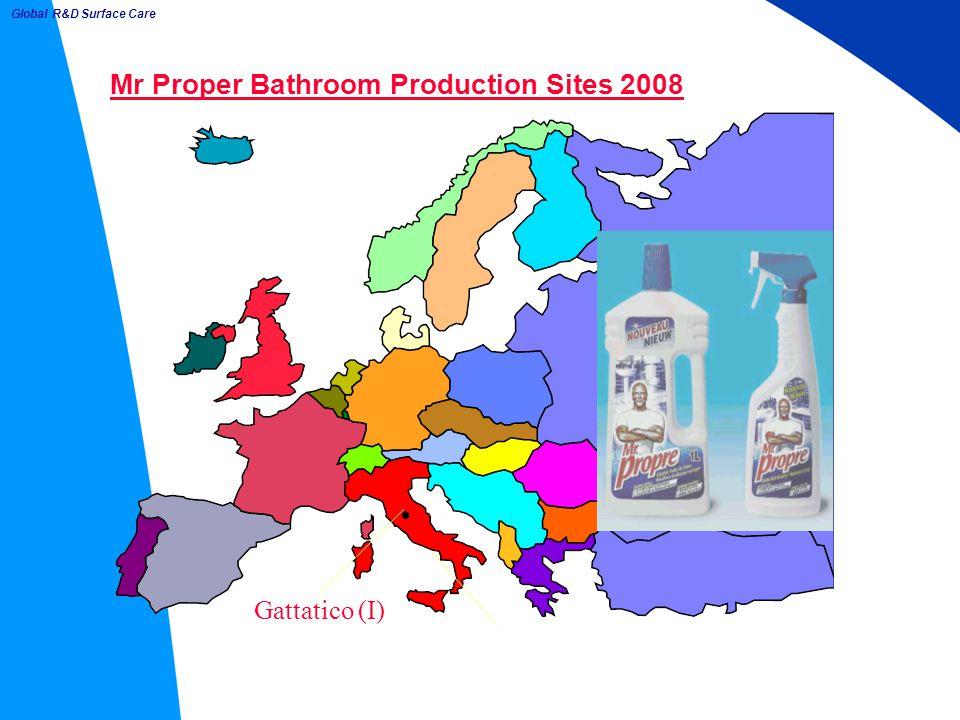 Mr Proper Bathroom Production Sites 2008 Gattatico (I) Global R&D Surface Care