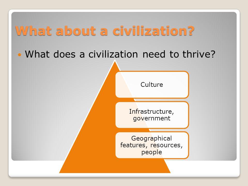 What about a civilization.