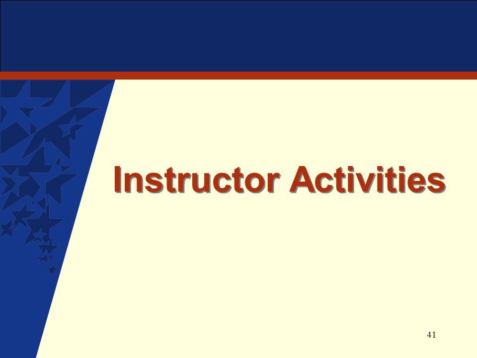 41 Instructor Activities
