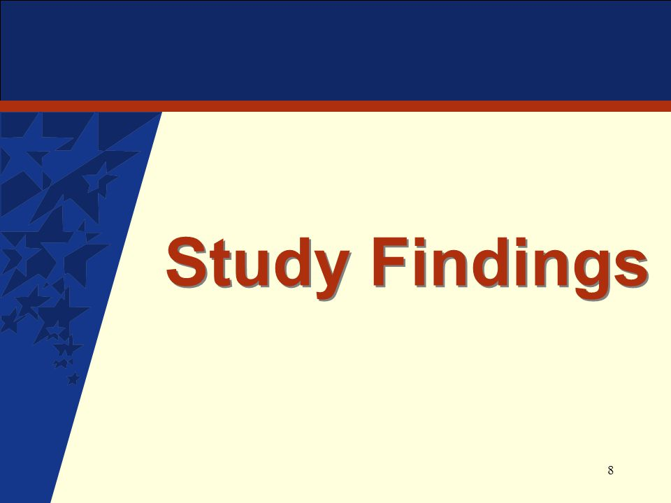 8 Study Findings