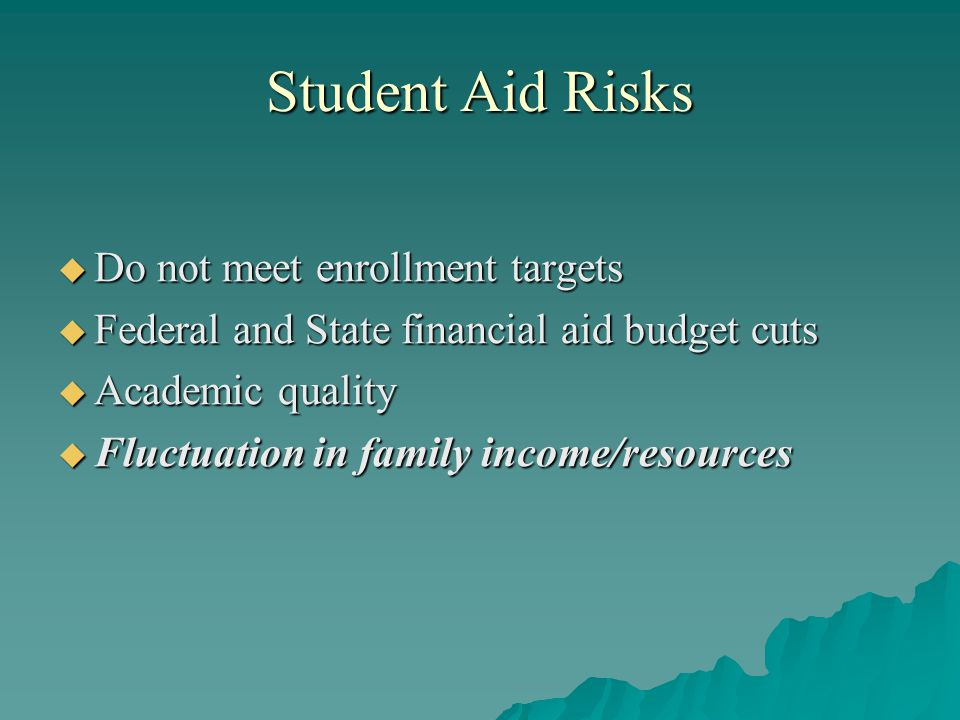 Recommendations  Simplify the federal student aid system  Improve the federal loan process  Develop a federal savings program for low- income families  Reward states and institutions that support student success