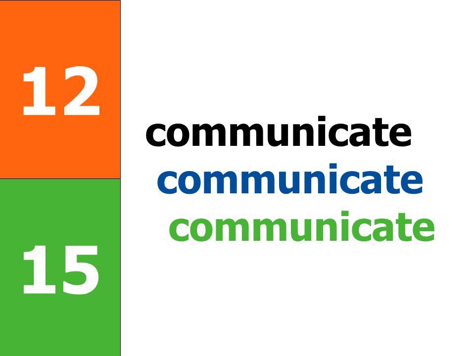 12 15 communicate communicate communicate