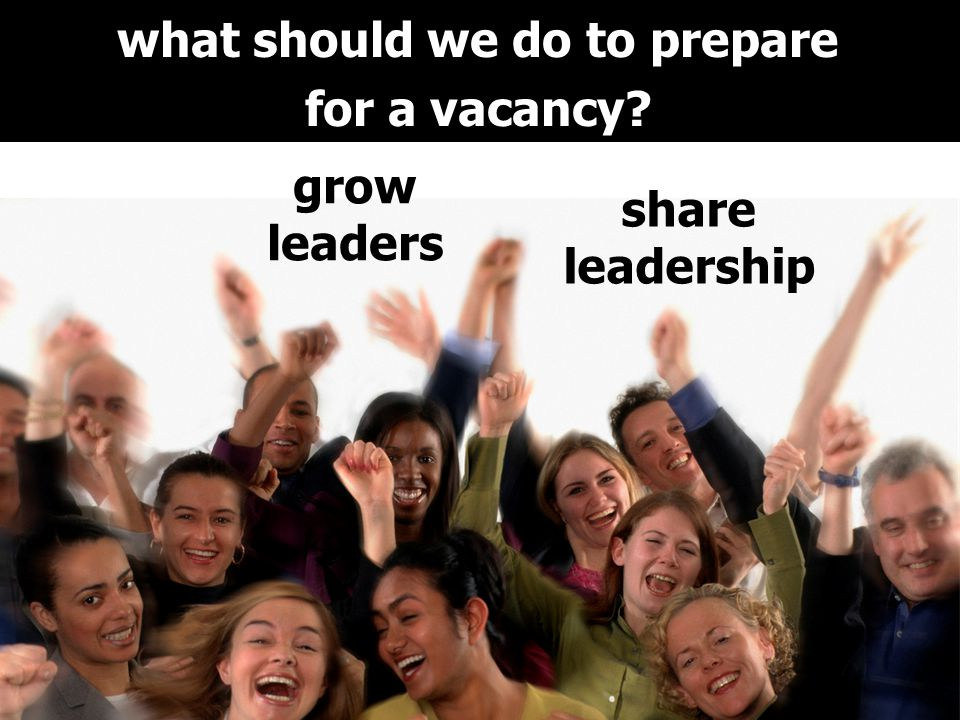 what should we do to prepare for a vacancy grow leaders share leadership