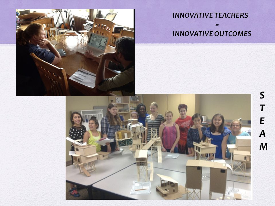 INNOVATIVE TEACHERS = INNOVATIVE OUTCOMES STEAMSTEAM