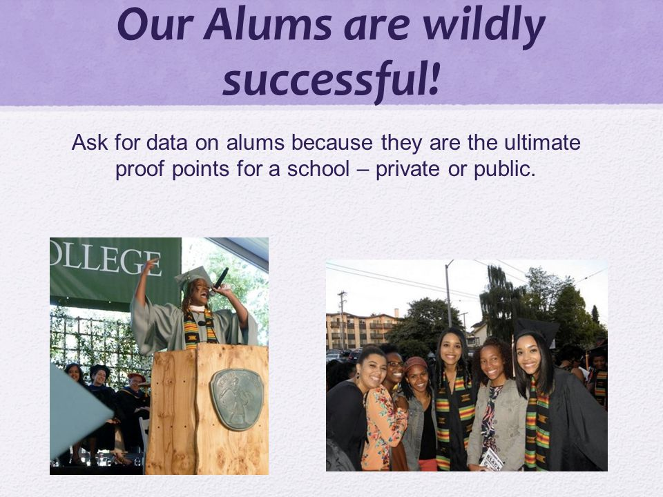 Our Alums are wildly successful.