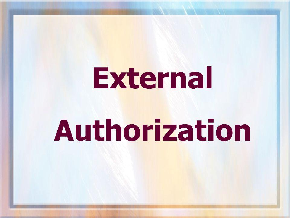 External Authorization