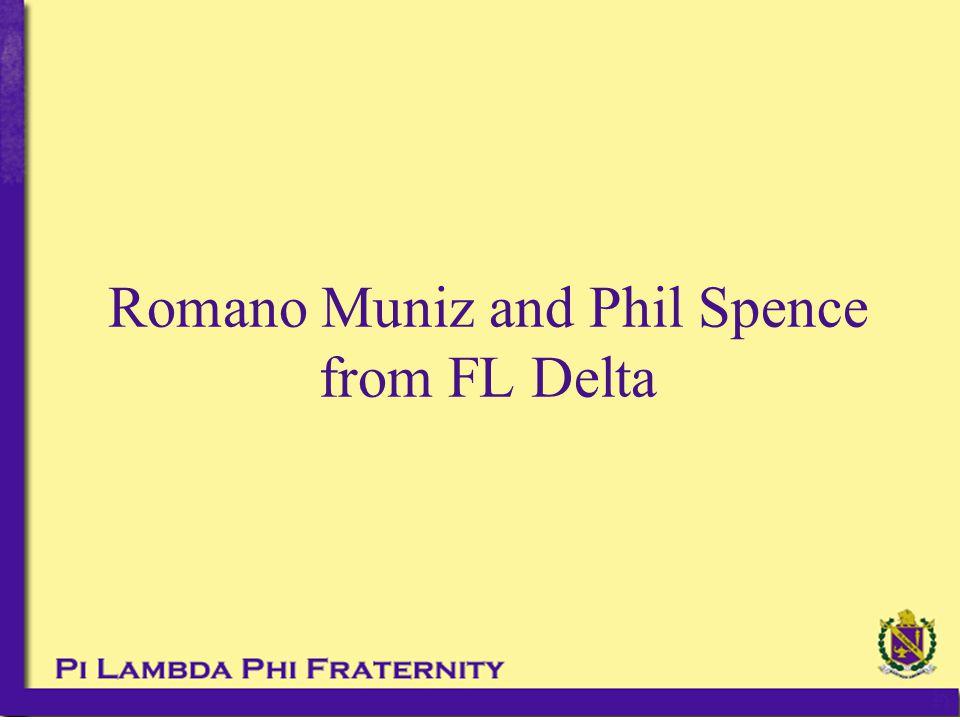 Romano Muniz and Phil Spence from FL Delta