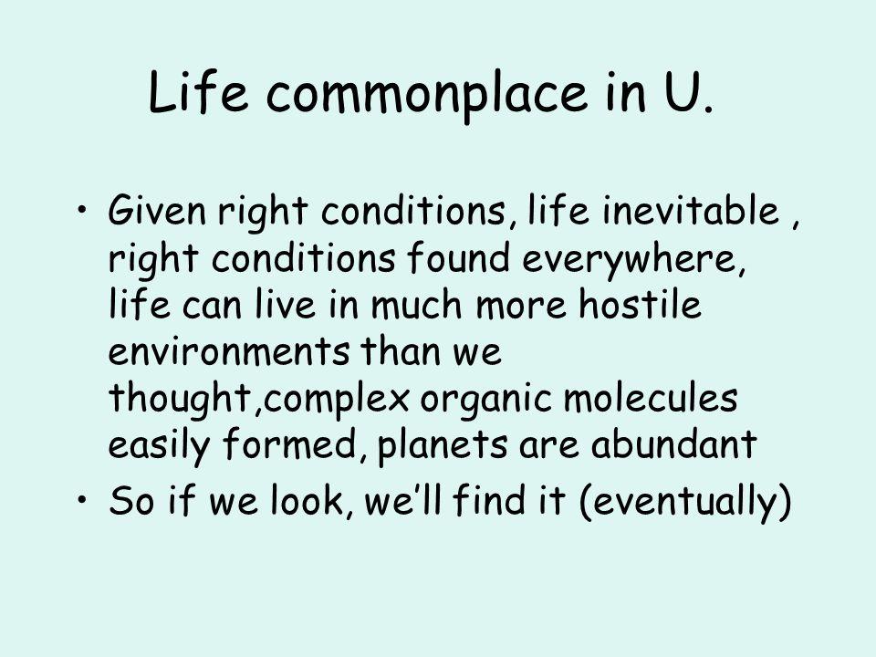 Life commonplace in U.
