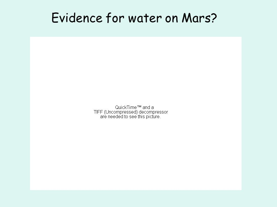 Evidence for water on Mars?
