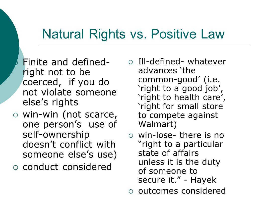 Natural Rights vs.