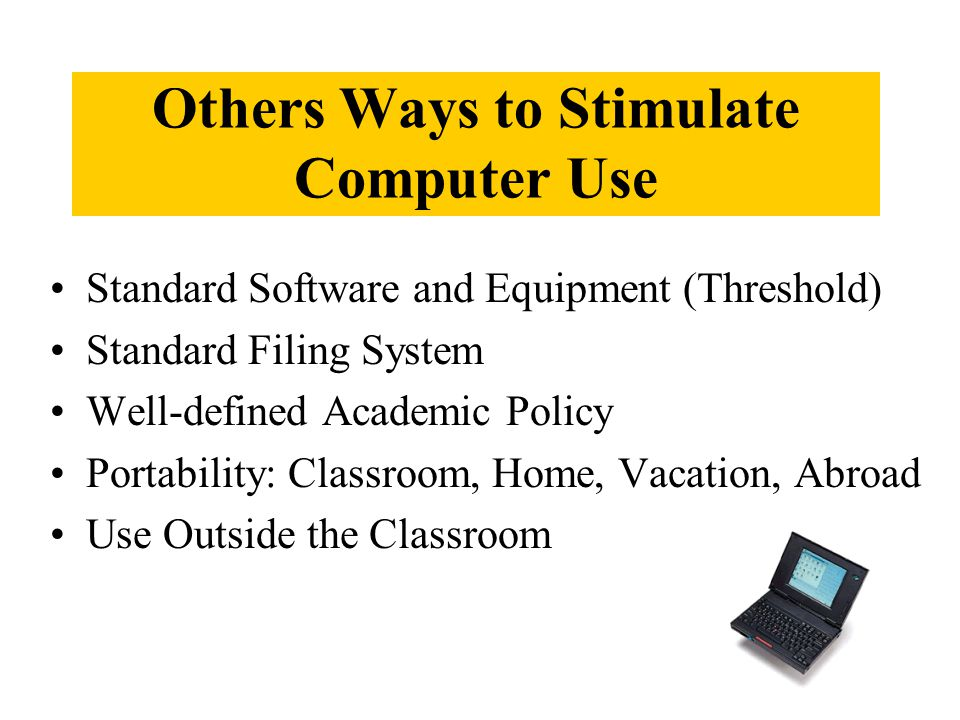 Ways to Exchange Information Swap & Share Benchmarking Trip Workshop by Off- Campus VIPs Computer Tip Talk Best Practices Conference National Computer Meetings Training On Call Summer Workshop CAI Newsgroup File of Best Local Practice