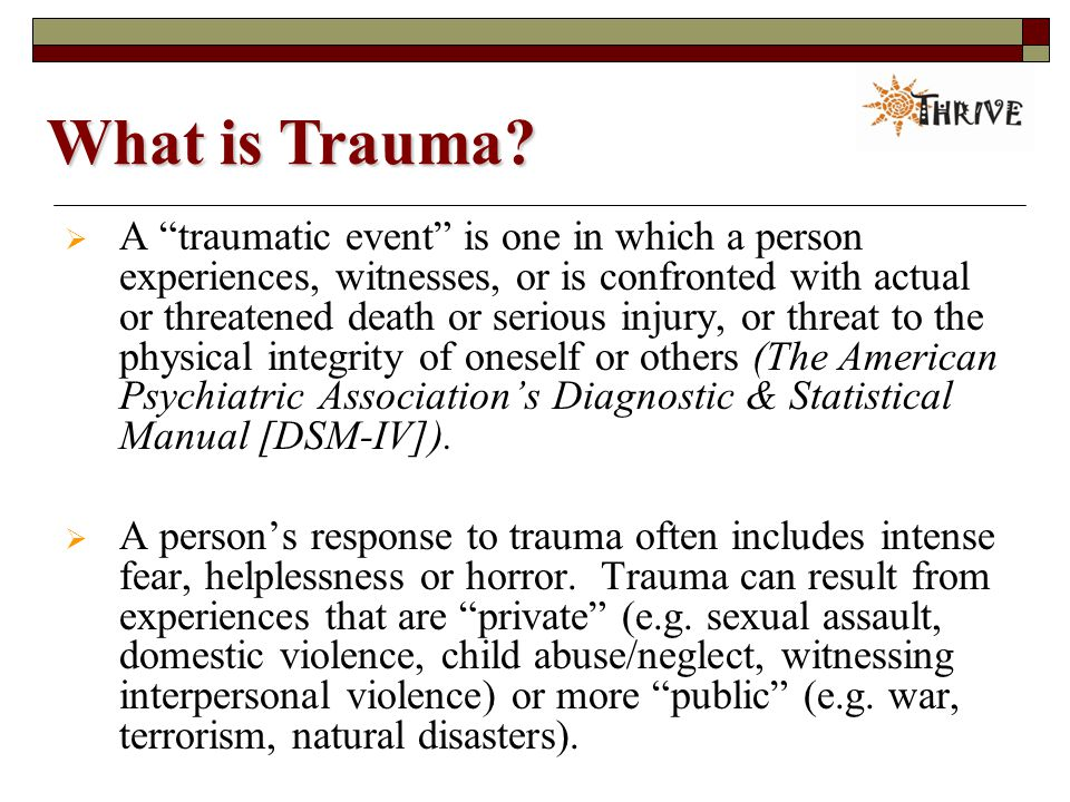 What is Trauma.