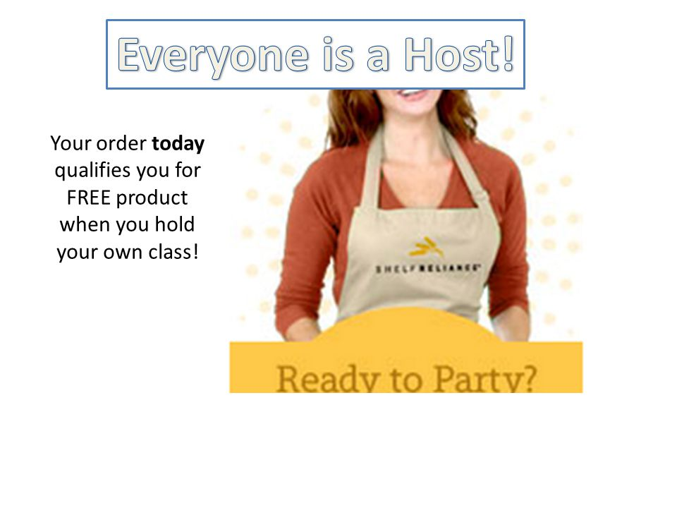 Your order today qualifies you for FREE product when you hold your own class.