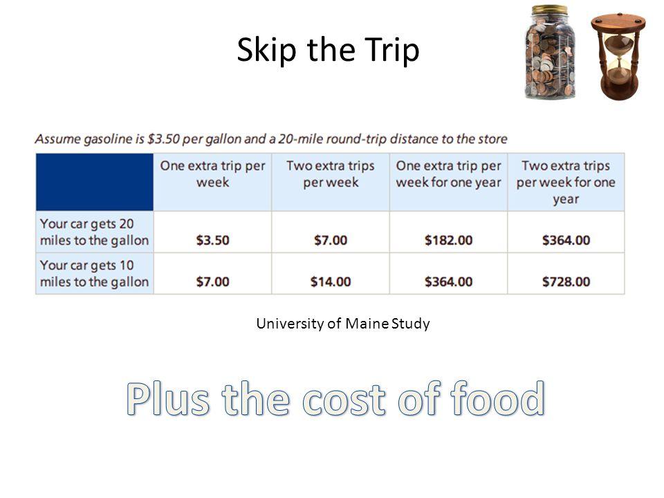 Skip the Trip University of Maine Study