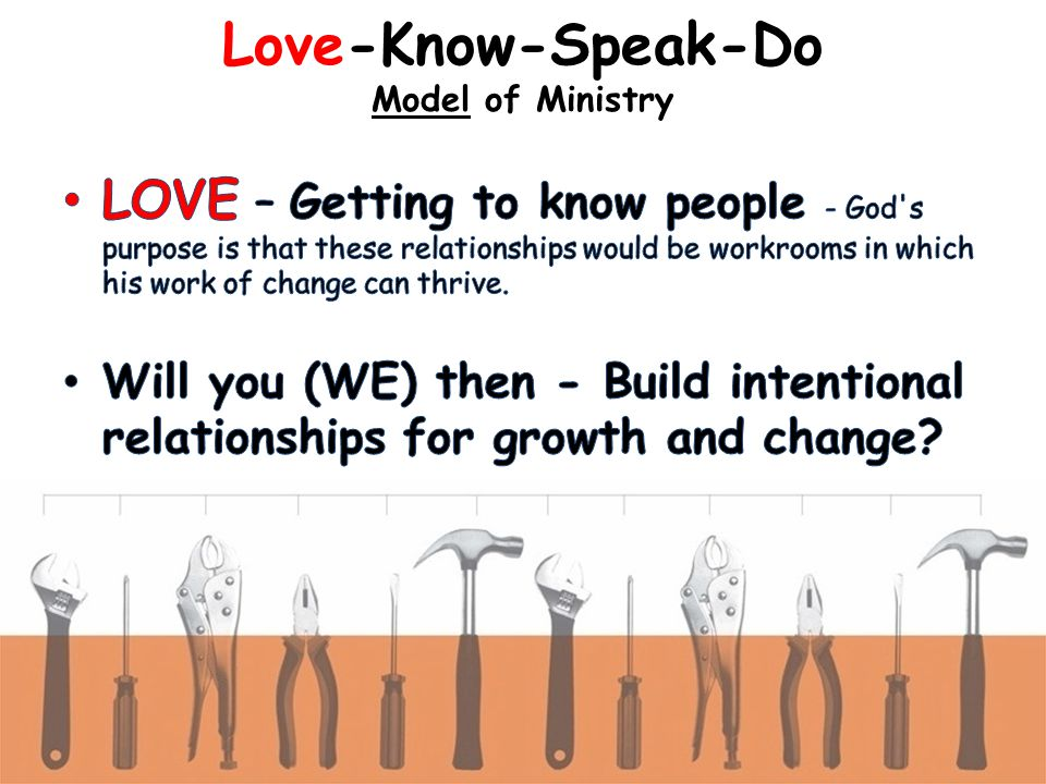 Love-Know-Speak-Do Model of Ministry