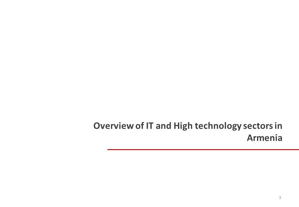 Overview of IT and High technology sectors in Armenia 3