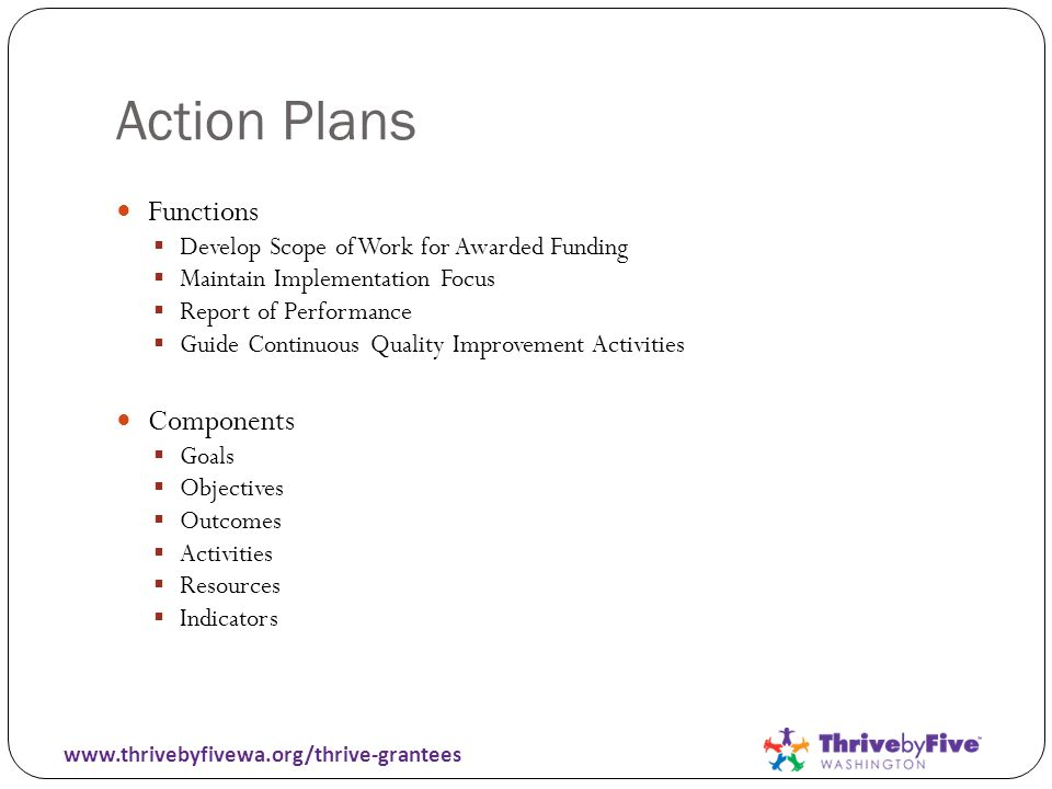 Example CM Action Plan www.thrivebyfivewa.org/thrive-grantees