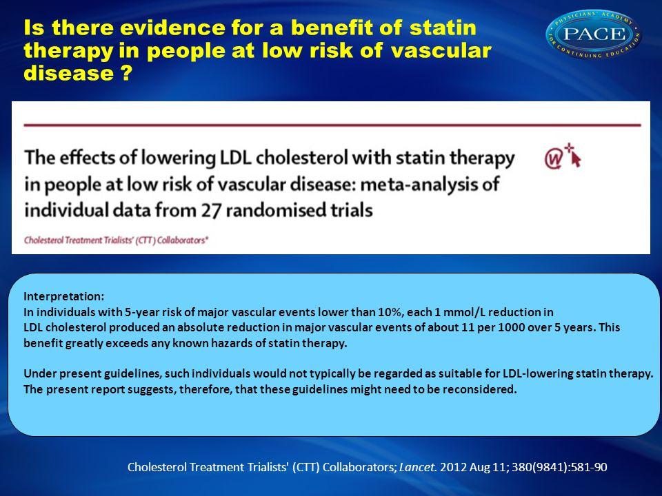 Cholesterol Treatment Trialists (CTT) Collaborators; Lancet.