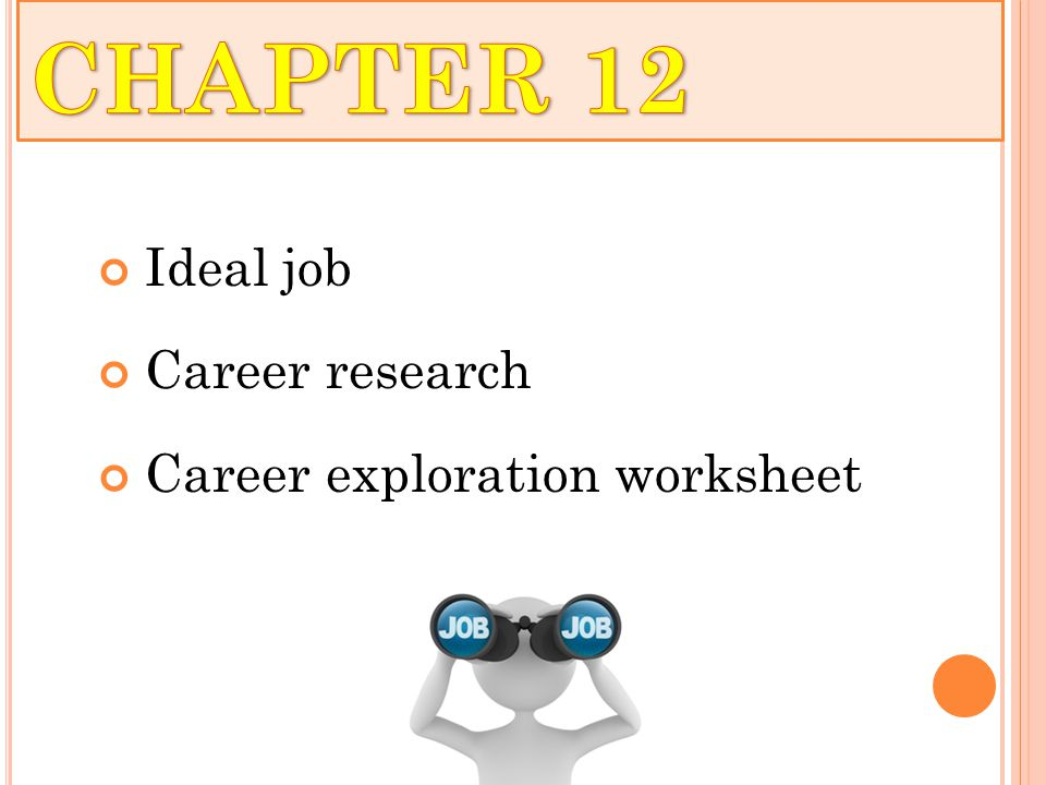 Ideal job Career research Career exploration worksheet