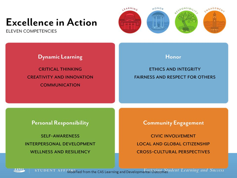 Modified from the CAS Learning and Developmental Outcomes