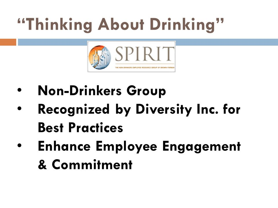 Thinking About Drinking Non-Drinkers Group Recognized by Diversity Inc.