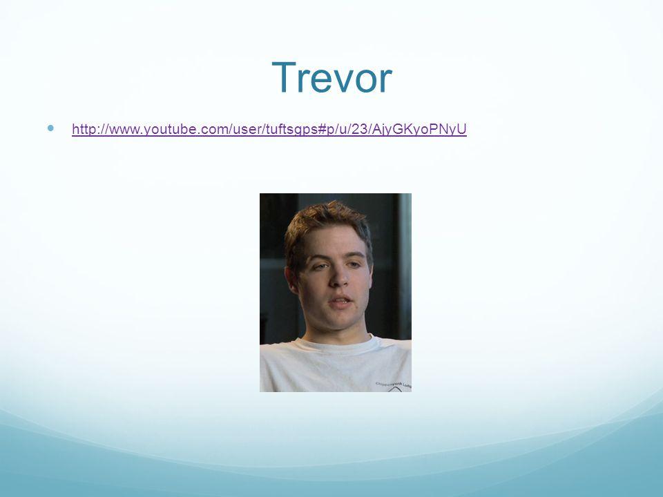 Trevor http://www.youtube.com/user/tuftsgps#p/u/23/AjyGKyoPNyU