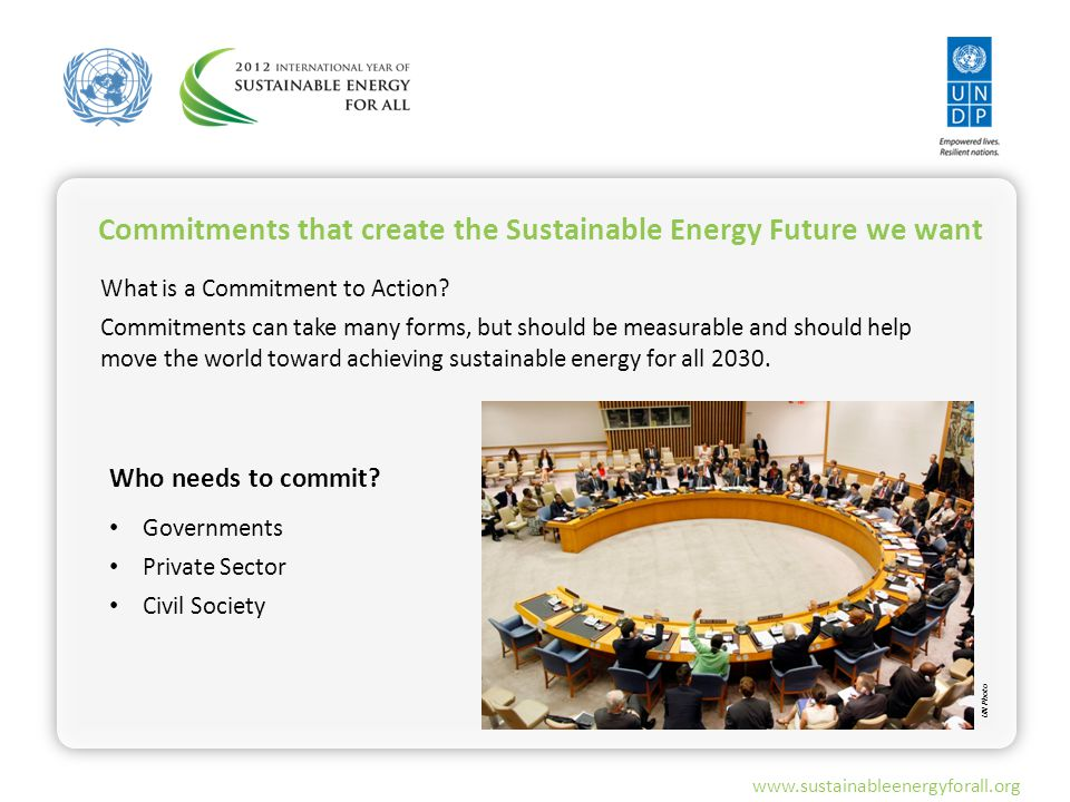 www.sustainableenergyforall.org What is a Commitment to Action.
