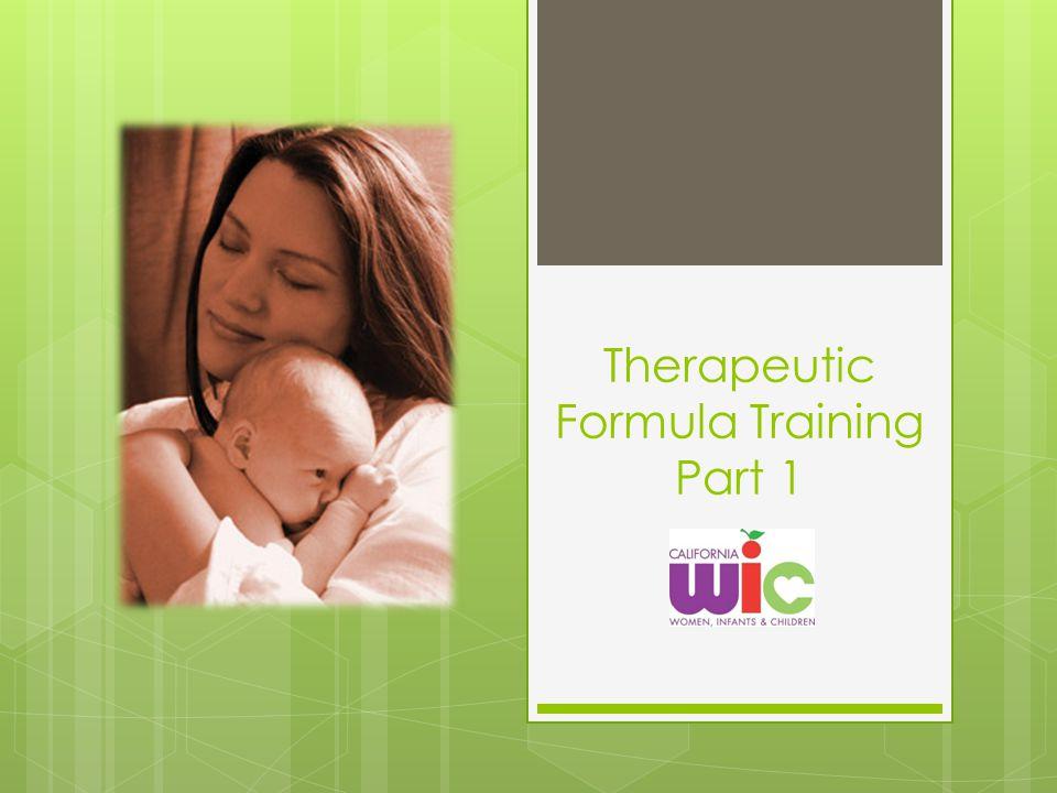 Therapeutic Formula Training Part 1