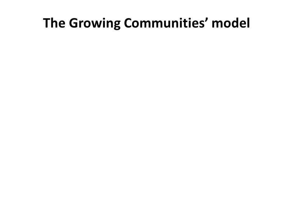 The Growing Communities' model