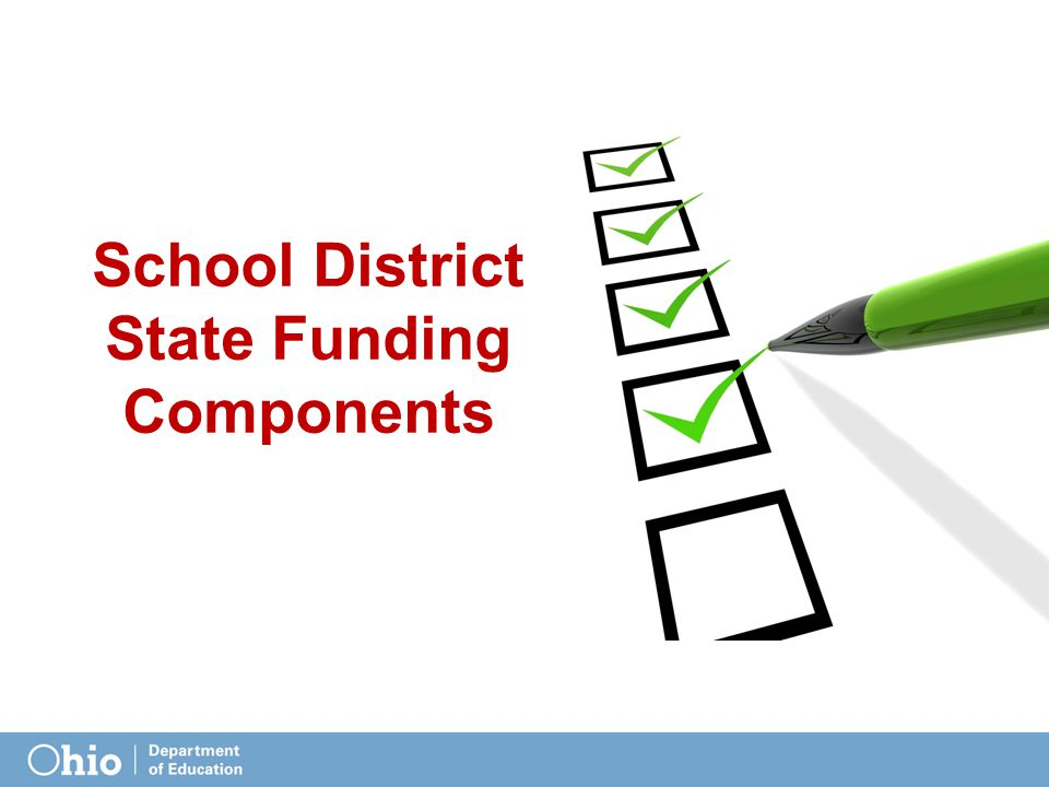 School District State Funding Components