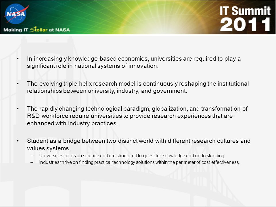 In increasingly knowledge-based economies, universities are required to play a significant role in national systems of innovation. The evolving triple