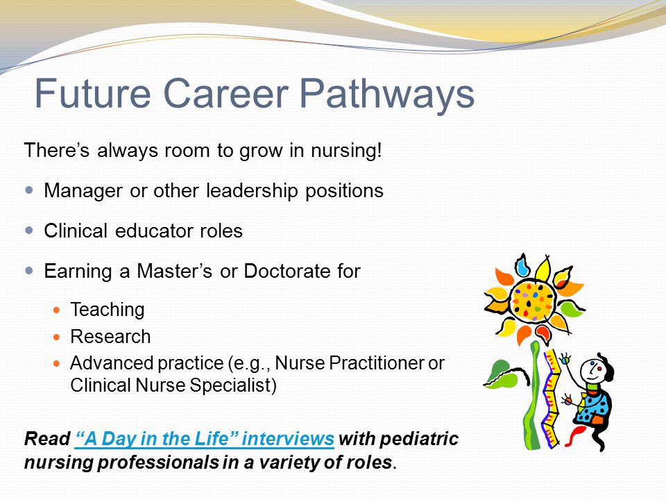 Future Career Pathways There's always room to grow in nursing.