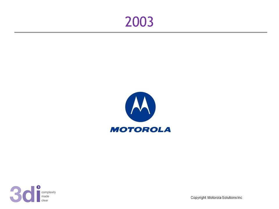 2003 Copyright Motorola Solutions Inc