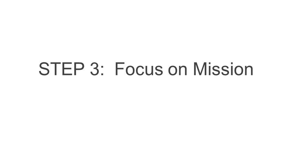 STEP 3: Focus on Mission