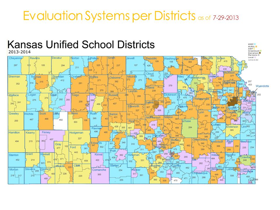 Evaluation Systems per Districts as of 7-29-2013