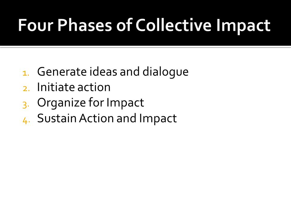 1. Generate ideas and dialogue 2. Initiate action 3.