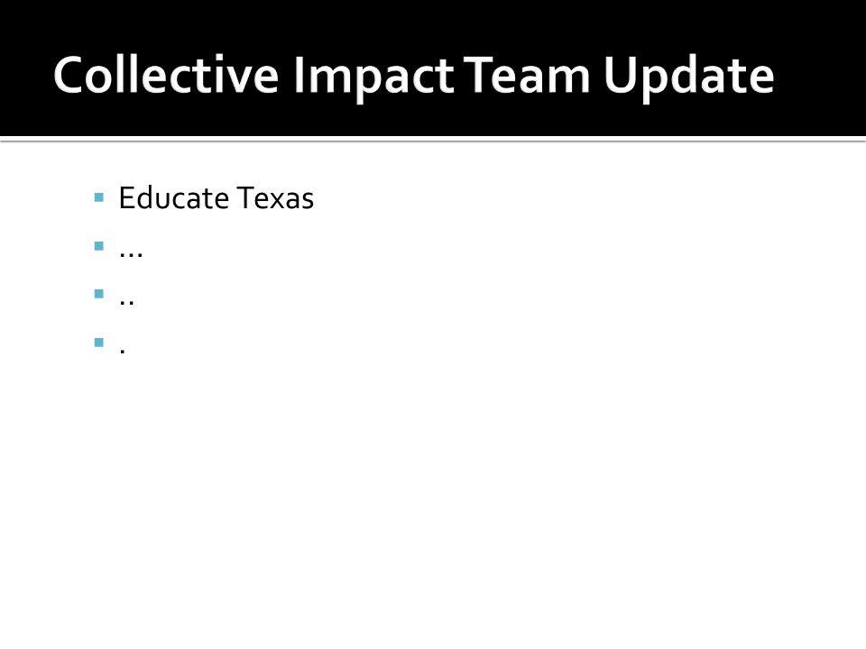  Educate Texas  … .. .