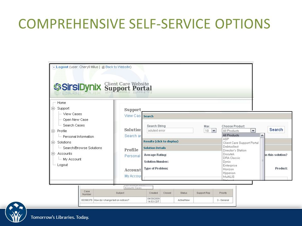 Tomorrow's Libraries. Today. COMPREHENSIVE SELF-SERVICE OPTIONS