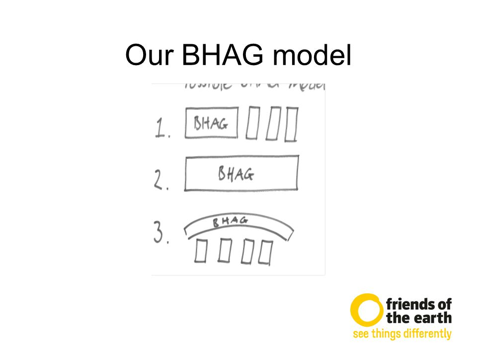 Our BHAG model