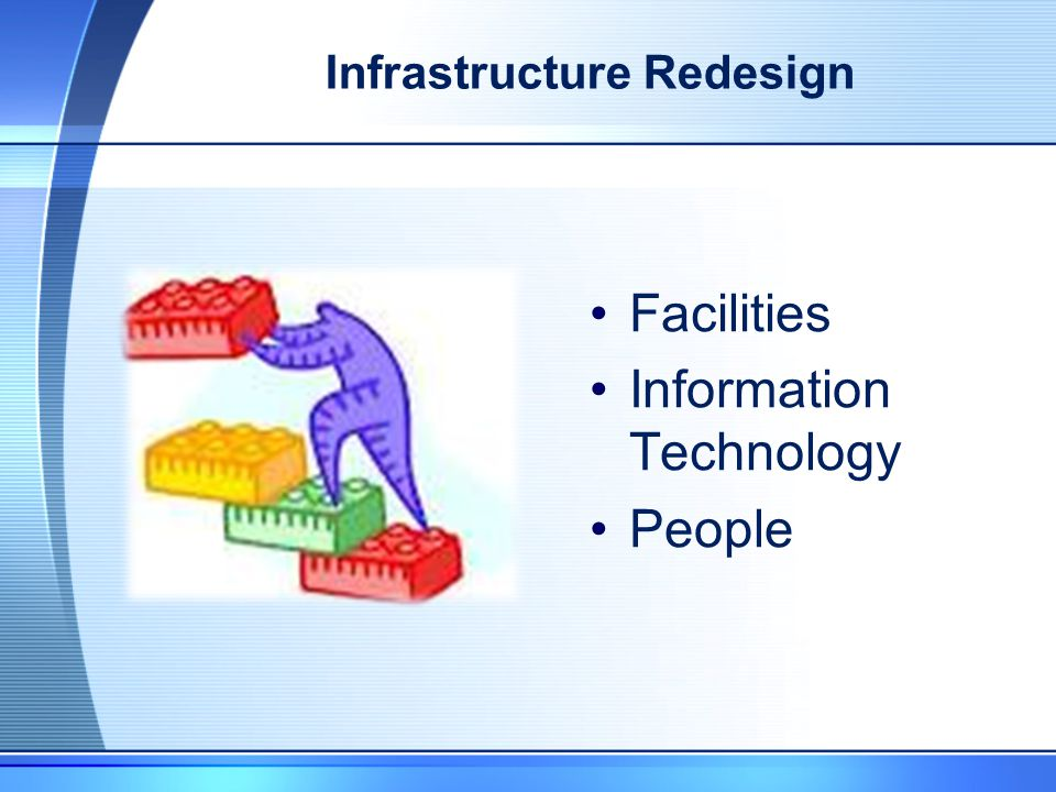 Infrastructure Redesign Facilities Information Technology People