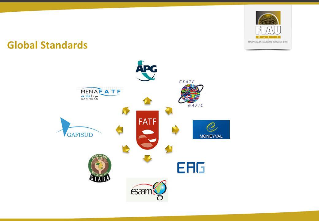 Global Standards APGCFATFMONEYVALEAGESAAMLGGIABAGAFISUDMENAFATF