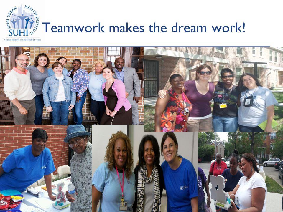 29 Teamwork makes the dream work! 29