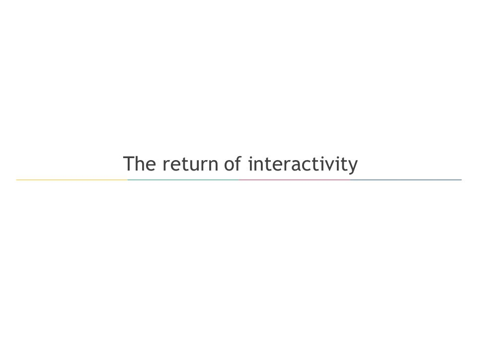 The return of interactivity