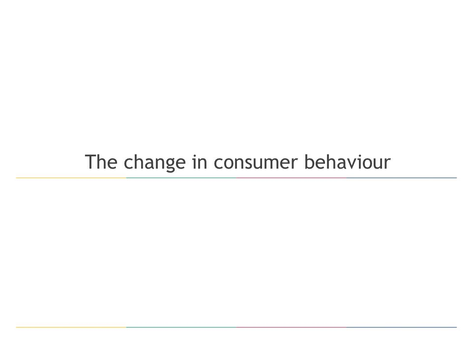 The change in consumer behaviour