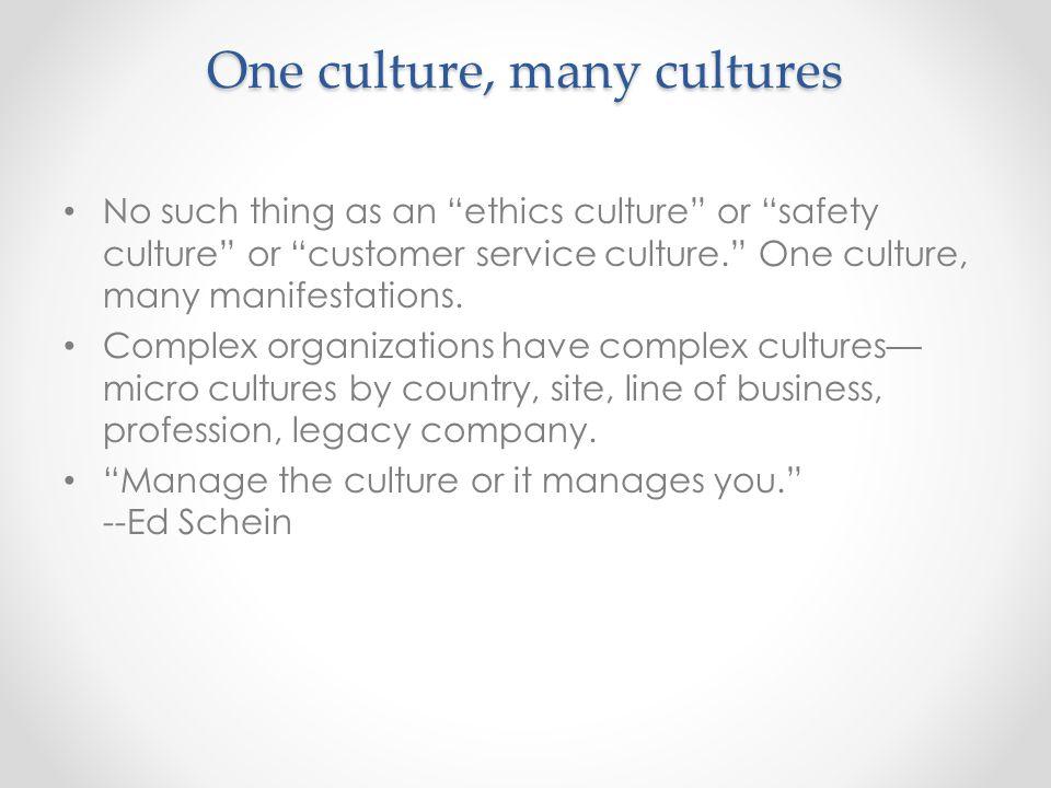 Improving a culture
