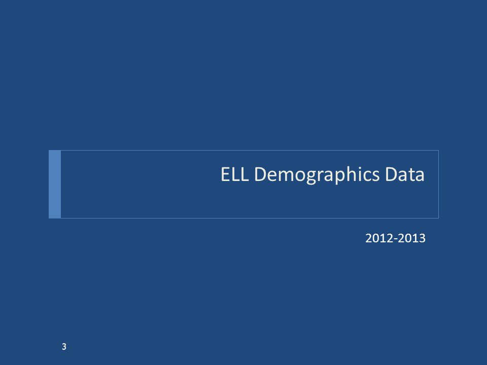 ELL Demographics Data 2012-2013 3